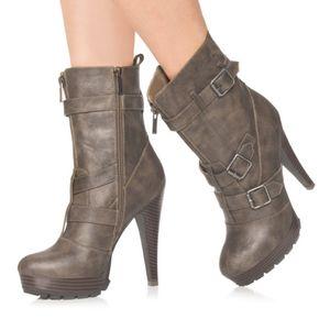 JustFab Gemma Taupe Boots